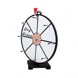 16 Inch Mini Dry Erase White Prize Wheel Entry Level