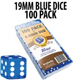 PACK OF 100 19mm Blue Dice