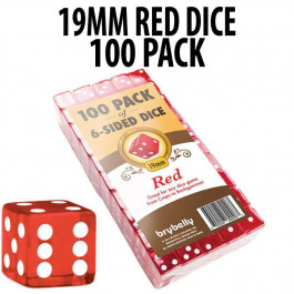 PACK OF 100 19mm Red Dice
