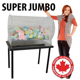 Acrylic Raffle Drum Super Jumbo  Holds up to 40,000 tickets