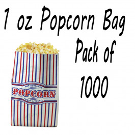 1000 POPCORN BAGS 1 OZ