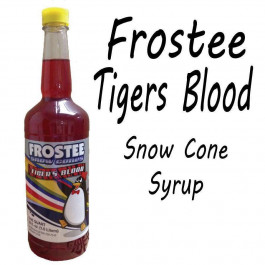 Snow Cone Syrup - TIGERS BLOOD 1 QT Bottle