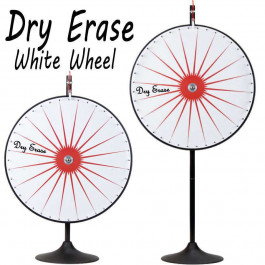 36 Inch Dry Erase White Prize Wheel  with Bonus Extension Base