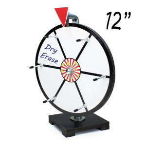 12 Inch Mini Dry Erase White Prize Wheel  : Entry Level