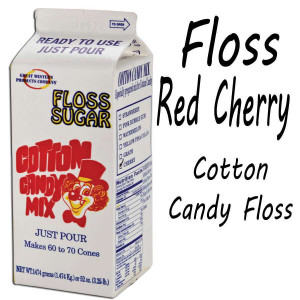 Cotton Candy Floss - Red Cherry 3.25 Lbs carton
