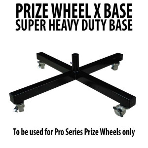 Heavy Duty X Shaped Prize Wheel Metal Base with Casters