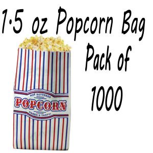1000 POPCORN BAGS 1.5 OZ