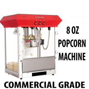 8oz Popcorn machine Table Top Unit RED