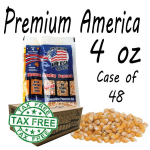 Premium America Theatre Quality Popcorn packs 4oz Case of 48