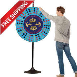 36 inch Crown & Anchor Prize Wheel with Extension Base & Layout