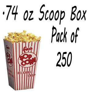 250 POPCORN SCOOP BOX - .74 OZ