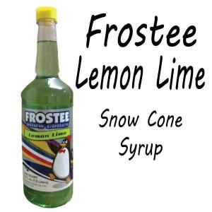 Snow Cone Syrup - Lemon Lime 1 QT Bottle