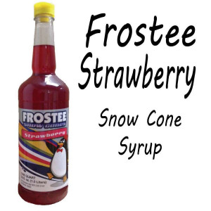 Snow Cone Syrup - Strawberry 1 QT Bottle
