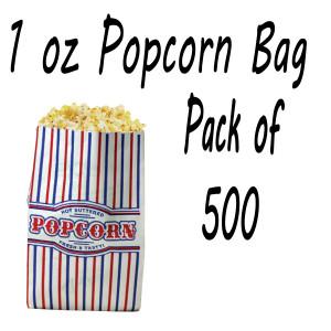 500 POPCORN BAGS 1 OZ
