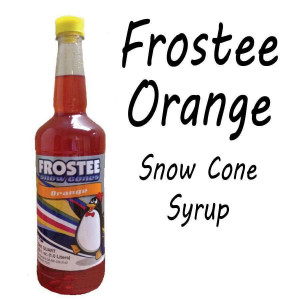 Snow Cone Syrup - ORANGE 1 QT Bottle
