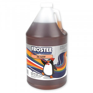 Snow Cone Syrup - Peach 1 gallon size - STORE PICK UP ONLY
